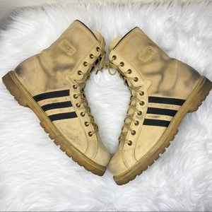 Rare Adidas Mohammed Ali Combat Boots Tan Size 12
